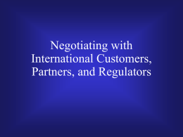 Global Negotiations . ppt - Southern Methodist University