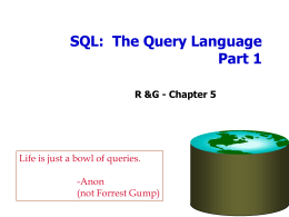 SQL Queries - EECS Instructional Support Group Home Page