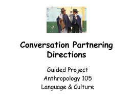 Conversation Partnering Directions