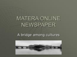 MATERA'S ONLINE NEWSPAPER