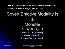 Covert Emotive Modality Is a Monster
