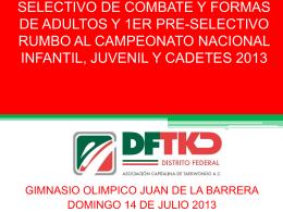 SELECTIVO DE COMBATE Y FORMAS DE ADULTOS Y 1ER …