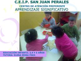 C.E.I.P. SAN JUAN PERALES. - Aprendizaje significativo