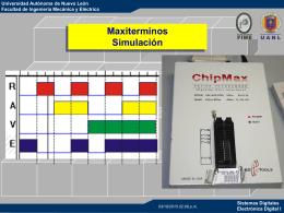 maxiterminos y simulacion