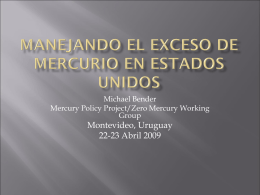 Managing Excess USA Mercury