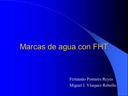 Marcas de agua con FHT - Secretariado de Recursos