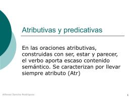 Atributivas y predicativas