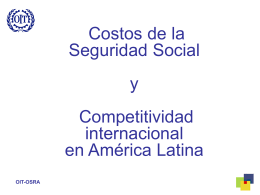 Competitividad y Financiamiento de la Seguridad Social