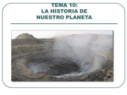 TEMA 10: LA HISTORIA DE NUESTRO PLANETA