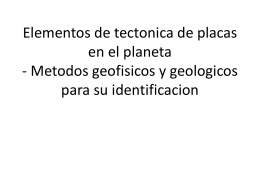 Elementos de tectonica de placas en el planeta