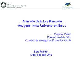 Cuentas de Salud - ForoSalud - Foro de la Sociedad Civil