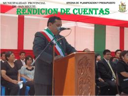 Diapositiva 1 - Municipalidad Provincial de San Miguel