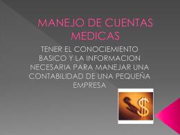 MANEJO DE CUENTAS MEDICAS