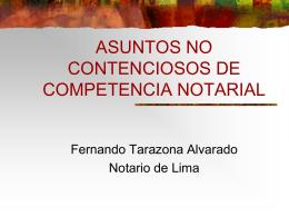 ASUNTOS NO CONTENCIOSOS DE COMPETENCIA …