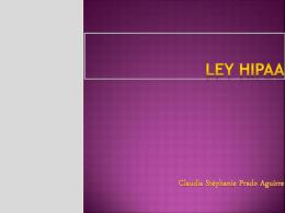LEY HIPAA - auditoriasistemasucb / FrontPage
