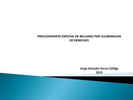 PROCEDIMIENTO ESPECIAL DE RECLAMO POR VULNER
