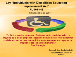 "Ley ""Individuals with Disabilities Education Improvement"