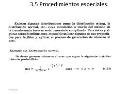 3.5 Procedimientos especiales.
