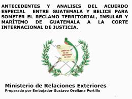 Diapositiva 1 - Ministerio de Relaciones Exteriores de