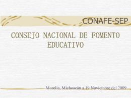 CONSEJO NACIONAL DE FOMENTO EDUCATIVO