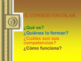 EL CONSEJO ESCOLAR - Gobierno de Canarias