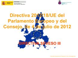 Directiva 2012/18/UE del Parlamento Europeo y del …