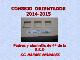 CONSEJO ORIENTADOR 2013-2014