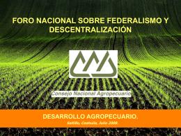 PLATAFORMA DEL CONSEJO NACIONAL AGROPECUARIO …