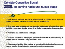 Reunion del Consejo Consultivo Social