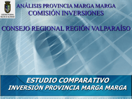 Estudio Comparativo Provincia Marga Marga