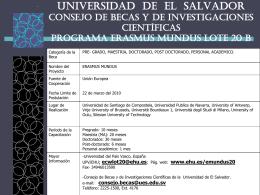 UNIVERSIDAD DE EL SALVADOR CONSEJO DE BECA Y DE