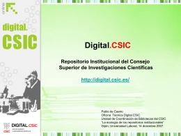 Digital.CSIC: el Repositorio Institucional del Consejo