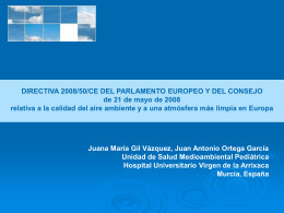 DIRECTIVA 2008/50/CE DEL PARLAMENTO EUROPEO Y …