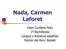 Nada, Carmen Laforet