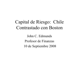 Capital de Riesgo: Chile Contrastado con Boston