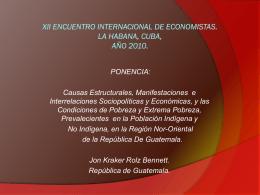 XII ENCUENTRO INTERNACIONAL DE ECONOMISTAS. LA …