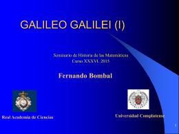 GALILEO GALILEI (I)