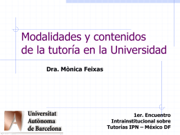 Acciones tutoriales para la Universidad