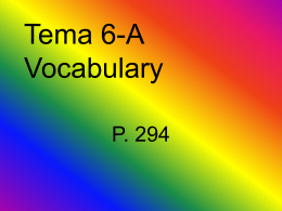 Tema 6-A Vocabulary