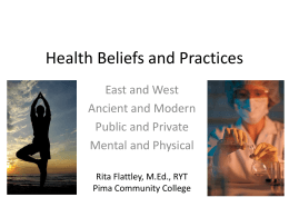 Health Beliefs and Practices - East