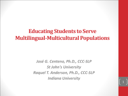 Educating Students to Serve Multilingual