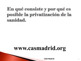 LOS NUEVOS HOSPITALES DE MADRID
