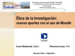 Etica de la Investigacion: nuevos aportes con el uso de …