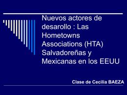 Nuevos actores de desarollo : Las Hometowns …