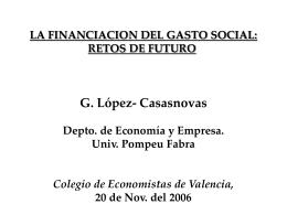 LOS NUEVOS EJES DEL GASTO SOCIAL: HACIA UNA …