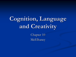Cognition and Language - Point Loma High School