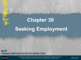 Chapter 30 Seeking Employment