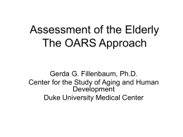 Assessment of the Elderly