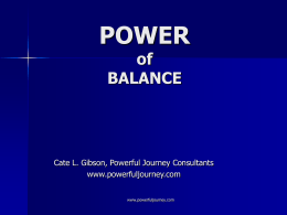 The POWER of BALANCE