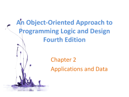 An Object-Oriented Approach to Programming Logic and